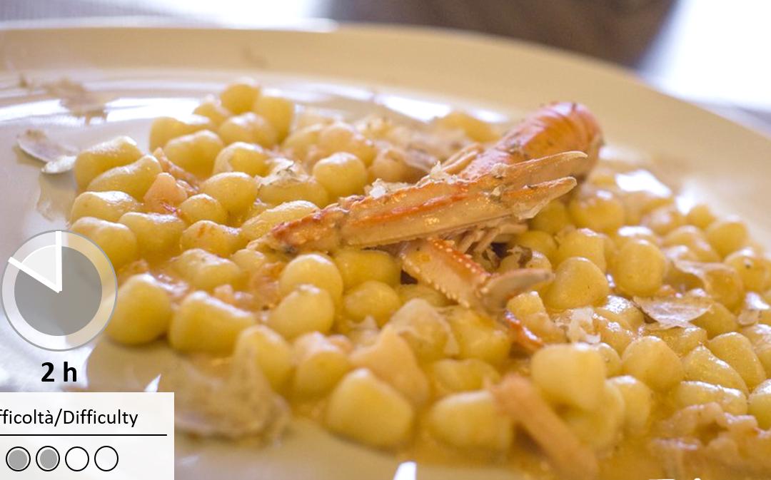 Gnocchetti con scampi e tartufo Bianco Tesori Del Matese