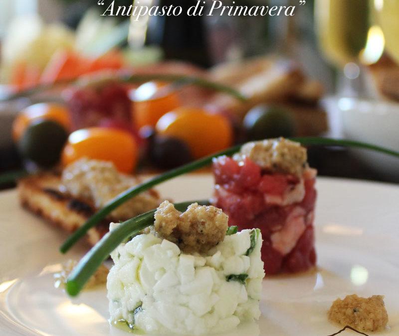 Mini-tartare di Fassona e di Mozzarella con Crema di Carciofo, Parmigiano e Tartufo